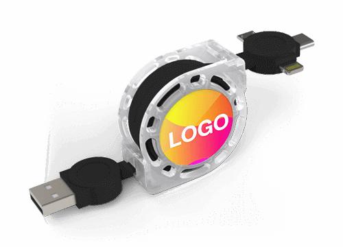 Motion - USB Kabel med Logo Tryk