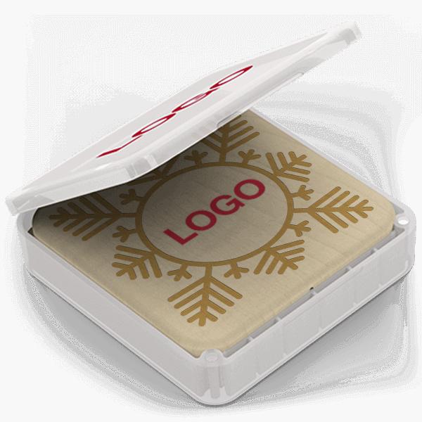 Forest Christmas - Trådløs Oplader Med Logo
