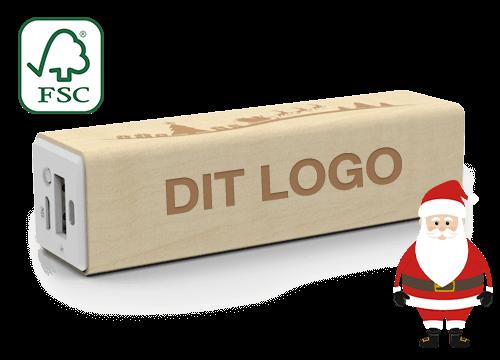 Maple Christmas - Powerbank med Logo