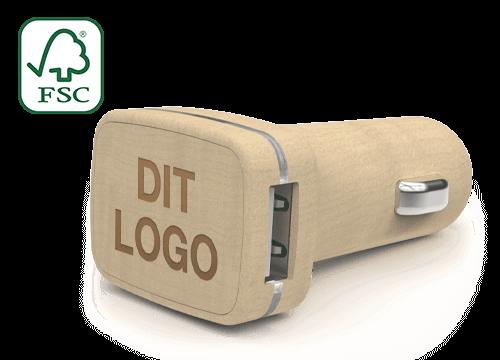 Woodie - Speciallavet USB bil opladere