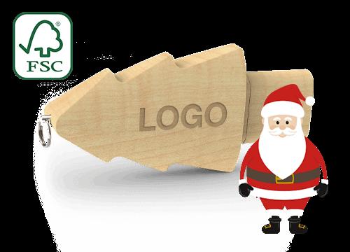 Christmas - USB Nøgle Med Logo