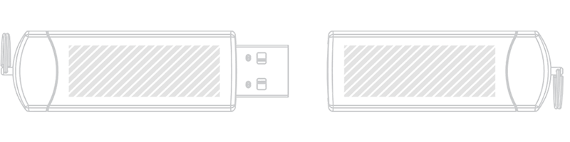 USB stik Silketryk