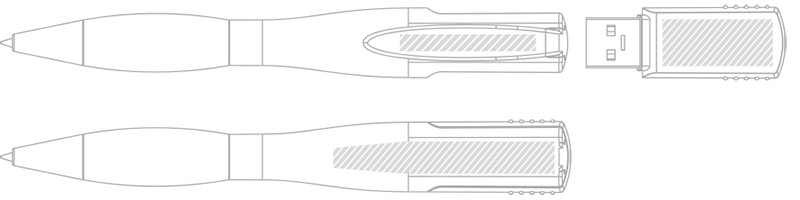 USB kuglepen Skærmprintning