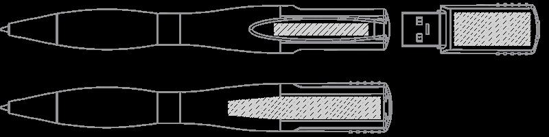 USB kuglepen Silketryk
