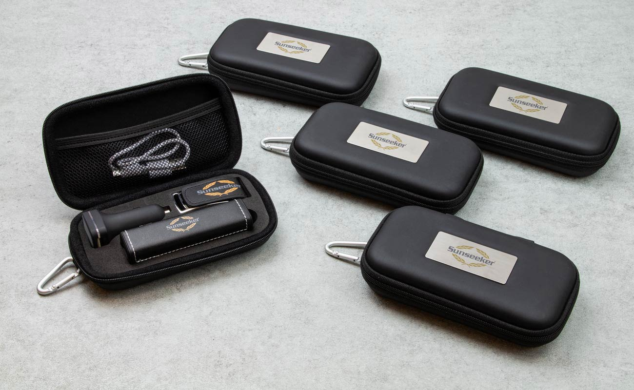 Leather M - USB Med Logo, Powerbank Med Tryk 